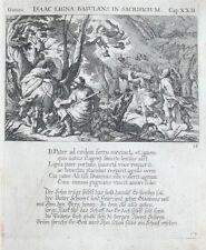 1679 Bibel Biblia Abrahams Versuchung Isaaks Opferung Kupferstich Küsel