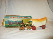 Vintage Retro 1960's Prairie Wagon Small Wood Japanese Toy Cowboy Western
