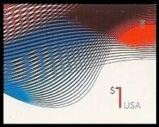 US 4953a One Dollar Patriotic Wave imperf NDC single MNH 2015