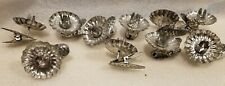 10 Vintage Christmas Xmas Tree Clip On Pine Cone Candle Holders Reflectors Vgnr