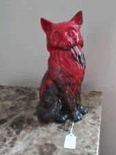 New Listing(Rare)Cat Seated Large – Royal Doulton Flambe