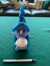 Northern Lights Candle Co Blue Wizard with cupcake with tag