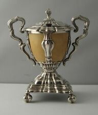 Superb French Empire Style Solid Silver Mustard