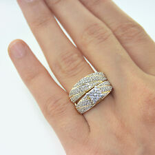 Round Cut Diamond Bridal Ring Set 14K Yellow Gold Fn Wedding Band 1.87 Ct.