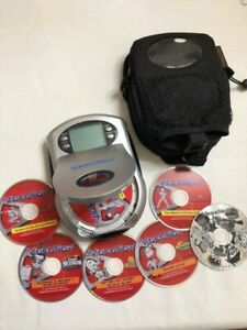 HASBRO VIDEO NOW PERSONAL VIDEO PLAYER WITH PROTECTIVE CASE AND 7 DISCS