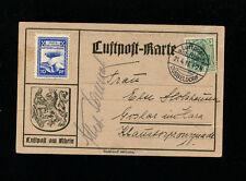 Zeppelin Sieger 17b 1913 Luftpost am Rhein 21-4-13 Dusseldorf Dispatch on card