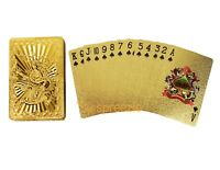 Dragon Gold Playing Cards 24k Foil Plated Plastic Full Deck Poker Gamble Luxury