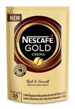 Nescafe Gold Crema Rich And Smooth Medium Dark Roast Coffee Mixed 35 g.