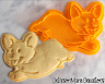 Corgi Dog Cookie Cutter Run Fly Cute Biscuit Baking Tool Ceramics and Pottery