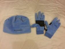 Columbia Youth Light Blue thermal coil fleece Beanie & gloves set small