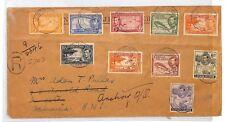 CAYMAN ISLANDS Cover KGVI Definitives George Town JAMAICA Redirected 1938 CB319