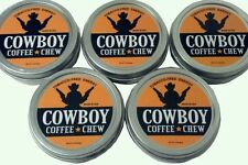 5 Tin Cans Cowboys Western Rodeo Energy Snuff QUIT Copenhagen Skoal Grizzly Sign