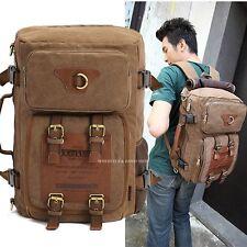 KUAKKO Vintage Men's Strong Canvas Backpack Shoulder Travel Camping bag M212