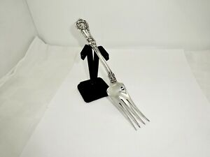 "ANTIQUE TIFFANY ENGLISH KING PAT.1885 STERLING SILVER LARGE 9"" COLD MEAT FORK"