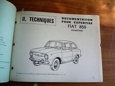 REVUE TECHNIQUE AUTO EXPERTISE FIAT 850