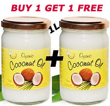 1L ORGANIC COSMETIC COCONUT OIL EXTRA VIRGIN COLD PRESSED - 500ml (Pack of 2)