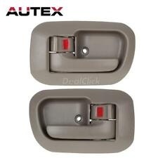 Pair For 98-03 TOYOTA SIENNA Interior Front Left Right Driver LH RH Door Handle