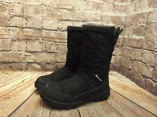 Womens Quechua Black  Zip Fastening Fur Lined Winter Snow Boots Size UK 3 EU 36