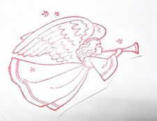 Flying angel rubber stamp angels heaven religious unmounted die only Christian