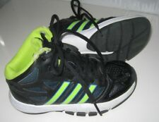 Boys 11 ADIDAS ORTHOLITE High Top SNEAKERS Basketball Tennis Shoes Black Lime