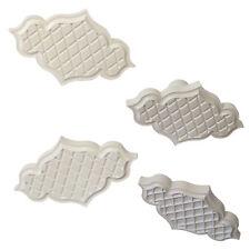 PME Creative Plaque Trellis Quilted Inserts Set/4