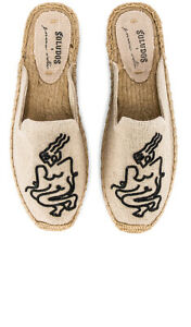 New SOLUDOS Women's Femme Embroidered Espadrille Mule *Sand Size: 5.5 - 8
