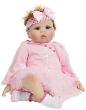 Rebornpuppe Babypuppe Soap Sammler Puppe Kleid Schnuller Flasche rosa B-WARE