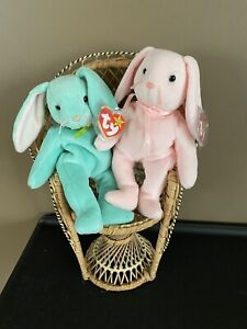 Ty Beanie Baby LOT of 2 Hoppity Hippity 1996 tags pictured bunnies