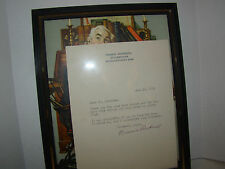 Norman Rockwell Autographed Letter on Personal Stationery-Envelope Included 1976