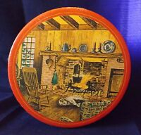 """Dansk Cookie Tin """"Dog Lying By Fire"""""""