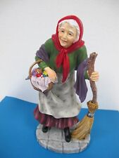 PIPKA BEFANA GIFT GIVERS OLD WOMAN CARRYING BASKET OF GIFTS FIGURE  #10160