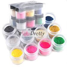 12 Color Velvet Flocking Dust Powder Decor UV Gel Polish Nail Art Tips Kit Set