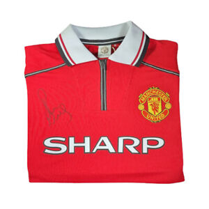 Manchester United 1999 Home Shirt Signed by Paul Scholes