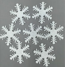 DIY 100pcs Padded Felt Snowflake Appliques Craft Kid's Appliques Decorative 40mm