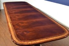 Floor Sample Leighton Hall 11FT Mahogany Dining Table, Scalloped, Retail $9000