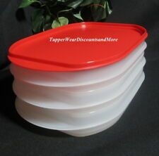 Tupperware Fridge Stackables 3 w/ Red Seal Deli Meat / Cheese Srorage Containers