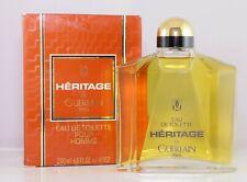 Heritage De Guerlain Paris Eau De Toilette Splash Pour Homme 200 ml Vintage EDT