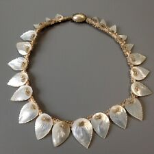 Vintage Art Deco Early Miriam Haskell Mother of Pearl Shell Necklace C 1920/30's