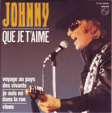 ☆ CD Single Johnny HALLYDAY Que je t'aime - EP REPLICA   Philips    9838021 NEUF