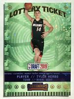2019-2020 Panini Contenders Tyler Herro Sparkle Prizm Lottery Ticket Rookie Rc