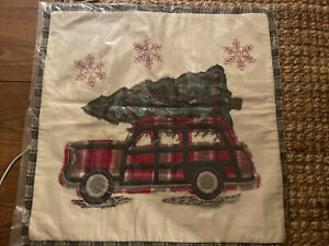 "NEW Pottery Barn Woody Car All The Way Home Pillow Cover Sham 20"" SET OF 2"