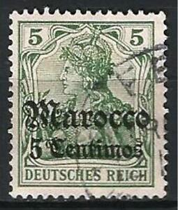 Germany Foreign Post Offices Morocco 1905 Used 5 C on 5 Pf Deutsches Reich Mi-22