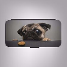 Pug Adorable Face Cute Dog LEATHER FLIP PHONE CASE COVER fits IPHONE SAMSUNG