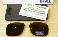 Occhiali da sole Sunglasses Addizionale Polarizzato INVU C 1407 C Marrone 100%UV