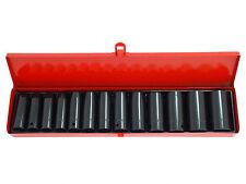 14 piezas de 1/2 pulgada Drive impacto profundo zócalos Set 10-32mm Completo Con Funda