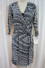 Suzi Chin For Maggy Boutique Dress Sz 6 Black Diamond Knotted Side Cocktail