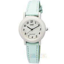 Casio Ladies LQ139L-2B Light Blue Genuine Leather Casual Dress Watch NEW Nice