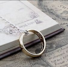 Hobbit The One Ring Necklace Pendant Elvish Rune Engraving Lord of The Rings