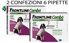 FRONTLINE COMBO CANE 20 - 40 KG 6 PIPETTE ANTIPARASSITARIO PER CANI ANTIPULCI .