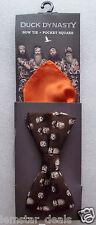 Duck Dynasty Floating Head Bow Tie & Orange Pocket Square